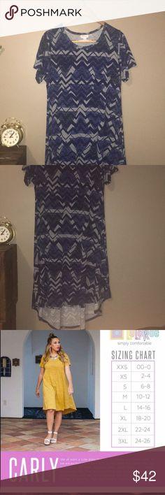 Lularoe Carly dress size larg In excellent use condition LuLaRoe Dresses Midi