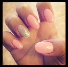 Oval shaped nails. Too long for my taste but will try.