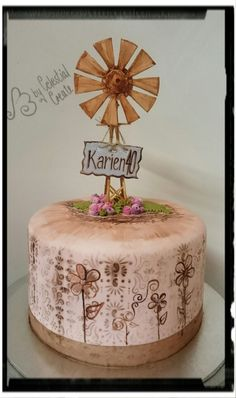 Windmill Cake My Own Work In 2019 Cake Teacher