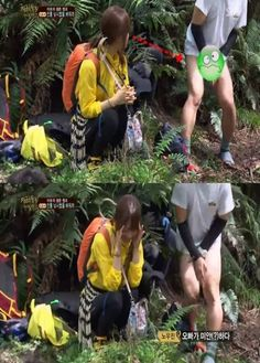 The male cast of 'Laws of the Jungle 3′ go pantless and fluster Park Bo Young