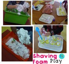 Bean Bag Teacher Shaving Foam is Fun!