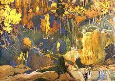 Эскиз декорации к балету Послеполуденный отдых фавна. 1911 (697x491, 490Kb)