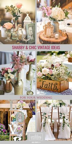 Shabby And Chic Vintage Wedding Decor Ideas ❤ Vintage style never go out of fashion. You'll be spoilt for choice of decorations. See more:   http://www.weddingforward.com/ shabby-chic-vintage-wedding-decor-ideas/ #wedding  #decorations