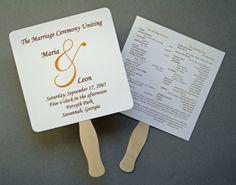17 best wedding programs fans images on pinterest wedding program