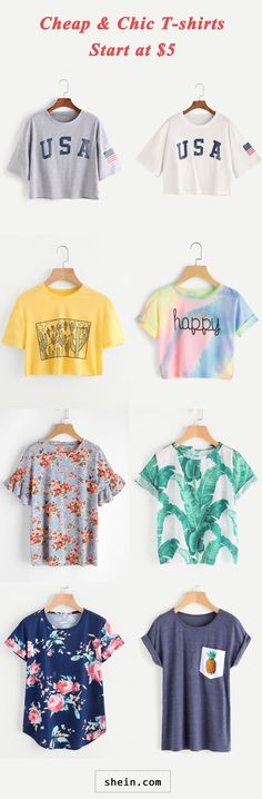 Cheap & chic t-shirts start at $5!
