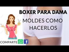 How To Mold Boxer Lady - My World Of Fashion - Sewing Patterns Courses Boxer Dama, Ropa Interior Boxers, Free Printable Sewing Patterns, Daniela Lopez, Beachwear, Swimwear, Bikinis, Fashion Sewing, Sewing Tutorials