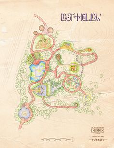 A map of the upcoming Lost Hollow: The Kimbrell Children's Garden.
