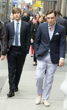 Stylish Friends, Chace Crawford and Ed Westwick