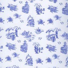 Dolls House Miniature Chinoese Wallpaper Blue - Over 10,000 other miniature dollshouse items in stock! Visit www.thedollshousestore.co.uk