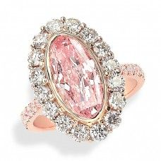 Pink Oval Ring