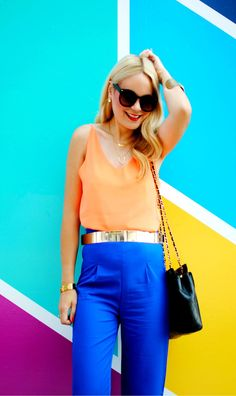 Colorful Outfit_Orange x Blue_What Would V Wear