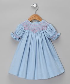 Take a look at this Blue Carla Hand-Smocked Bishop Dress - Infant & Toddler on zulily today!