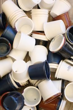 Great ways to re-use Keurig K-Cups around the home, garden, craft room and playroom by Happy Hooligans #recycled #Keurig #Repurposed #Kcups