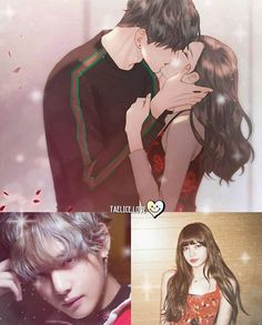 TaeLiz - I don't ship it, but this drawing if giving me life Bts Girlfriends, 17 Kpop, Bts Imagine, Blackpink And Bts, Only Girl, Blackpink Lisa, Bts Taehyung, Manhwa, Fan Art