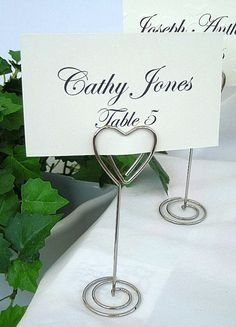 Wedding Table Place Name Cards and Holders by AllThingsAngelas, $14.99