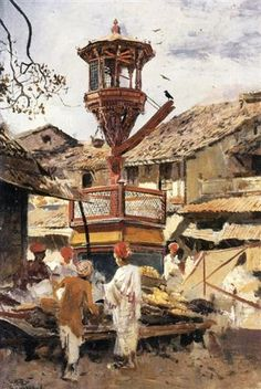 Birdhouse and Market Ahmedabad, India - Edwin Lord Weeks  -  Completion Date: 1892