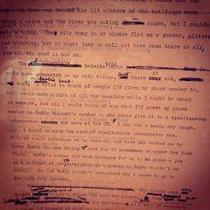 """Draft of """"The Bell Jar."""" Written in London, 1961."""