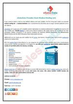 Giant Medical Mailing Lists With eSalesData