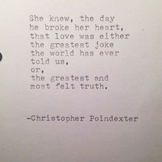 the day he broke her heart