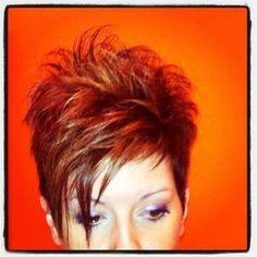 Going Gray - 60 Short Choppy Hairstyles for Any Taste. Choppy Bob, Layers, Bangs - The Trending Hairstyle Short Spiky Hairstyles, Short Choppy Hair, Funky Short Hair, Short Haircut Styles, Short Hair With Layers, Short Hair Cuts For Women, Layered Hair, Edgy Haircuts, Pixie Haircuts