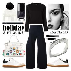 """""""Anastazio-gift guide"""" by anastazio-kotsopoulos ❤ liked on Polyvore featuring Jacquemus, Isabel Marant, Neil Barrett, Jaeger, Fendi, Anastazio, NARS Cosmetics and Givenchy"""