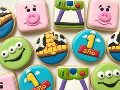 De mis favoritas ❤️ - Toys for years old happy toys Fête Toy Story, Bolo Toy Story, Toy Story Baby, Toy Story Theme, Toy Story Cupcakes, Toy Story Cookies, Toy Story Birthday Cake, Birthday Cookies, Cumple Toy Story