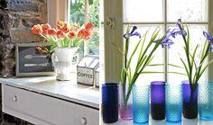 windowsill decoration ideas Kitchen Window Decor, Door Stickers, Window Sill, Elegant, Wall Murals, Glass Vase, Indoor, Table Decorations, Interior