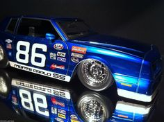 1 24 Scale 1986 Chevy Monte Carlo ''Custom Racer'' Jada | eBay # www.diecastgarage... #diecast #car #die-cast #model #toy #collection #V8 # super car #cruise #hot rod # for sale #muscle #drag #street #collector #1:18 #1:24 #1:43 #1:64