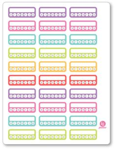 Weekly Habit Checklist Planner Stickers for Erin Condren Planner, Filofax, Plum…