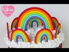Learn With Sharon Wee - Rainbow and Clouds Topper - YouTube