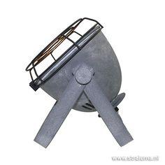 Stoere industriële tafellamp beton-look - www.straluma.nl