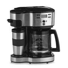 Genius - Coffee maker offers two ways to brew -- single serve or 12-cup carafe