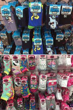 Just Boy Stuff and Just Girl Stuff socks. Thanks @axlvangok!