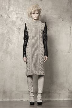 b324f8e764b Knitwear and Leather mix dress. Michal Hammer · Winter is Coming