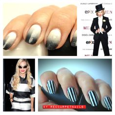 #ontrend monochrome nail designs. By RedCarpetNails £15.