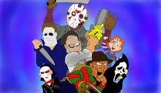 Cartoon Horror Movies   Horror Movie Killers by JacksonBegelhole