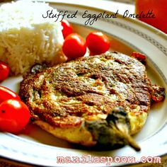 Tortang Talong (Stuffed Eggplant Omelette) - this is our favorite way to use eggplants! So filling and delicious! #tortangtalong