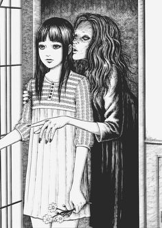Adi Tantimedh writes, And so, Japanese horror. Junji Ito is the reigning master of horror in manga. You can trace his place in the annals of horror manga Manga Gore, Bakugou Manga, Manga Artist, Akira Manga, Junji Ito, Japanese Horror, Japanese Art, Arte Horror, Horror Art