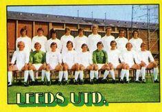 1974-75 A&BC Gum #63 Leeds United Team Front