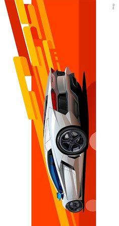 Auto art for sale Car Vector, Go For It, Supercars, Car Illustration, Car Posters, Car Sketch, Car Drawings, Bike Art, Transportation Design