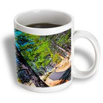 3dRose - Jos Fauxtographee Trails - A beautiful walk path into the canyon in Pine Valley, Utah - Mugs