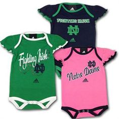 Notre Dame Baby Girl Onesies This would make my parents sooooo mad!! But I love it!
