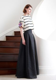 #nautical #stripes & #maxi skirts