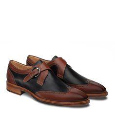 eec6c4d00 Mezlan Modesto Men s Shoes Cognac   Blue Calfskin Leather Loafers  8885(MZ2724)