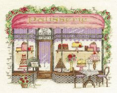 Quaint, quiet and deliciously inviting, the Patisserie cross stitch kit from DMC is every cake shop-lover's dream pattern.Capturing the unmatc...