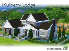 Lovely two story house for your sim family Found in TSR Category 'Sims 4 Residential Lots'