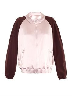 Bi-colour satin bomber jacket   MSGM   MATCHESFASHION.COM
