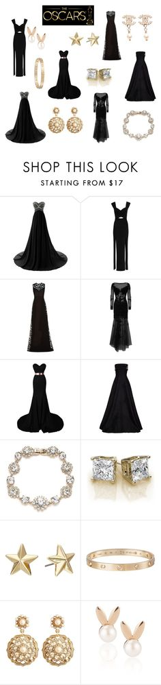 """The Oscars"" by camilla-sjoeberg on Polyvore featuring Emilio Pucci, Elie Saab, Jovani, Alex Perry, Marchesa, Rebecca Minkoff, Cartier, Brooks Brothers, Aamaya by priyanka and Chanel"