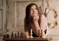 Revealing chess photo shoot for Russia 2 TV Channel She Was Beautiful, Most Beautiful Women, Beautiful World, Chess Moves, Kings Game, Chess Players, Military Girl, How To Look Better, Photoshoot