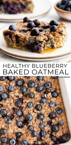 This easy healthy Blueberry Baked Oatmeal recipe is a delicious make-ahead breakfast to feed a crowd It s high-protein gluten-free and refined sugar free and highly customizable Easy quick healthy recipes Delicious Breakfast Recipes, Brunch Recipes, Snack Recipes, Beef Recipes, Chicken Recipes, Vegan Recipes, Icing Recipes, Kale Recipes, Lentil Recipes